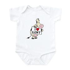 Holy Cow It's Lent Infant Bodysuit