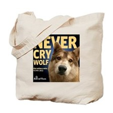 Never Cry Wolf Tote Bag