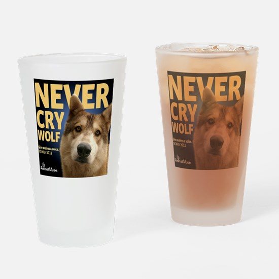 Never Cry Wolf Drinking Glass