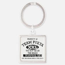 TEAM PEETA light Square Keychain