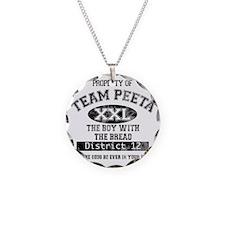 TEAM PEETA light Necklace Circle Charm