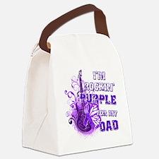Im Rockin Purple for my Dad Canvas Lunch Bag