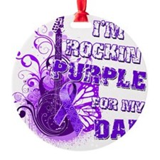 Im Rockin Purple for my Dad Ornament