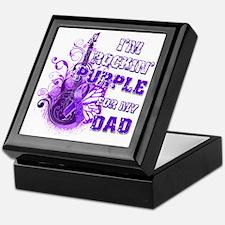 Im Rockin Purple for my Dad Keepsake Box