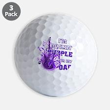 Im Rockin Purple for my Dad Golf Ball