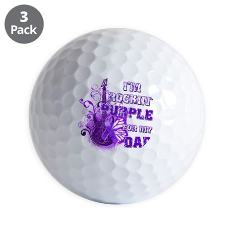 Im Rockin Purple for my Dad Golf Balls
