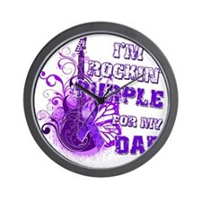 Im Rockin Purple for my Dad Wall Clock