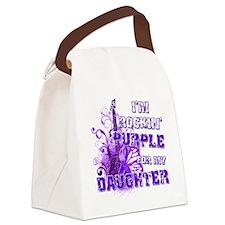 Im Rockin Purple for my Daughter Canvas Lunch Bag