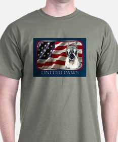 Schnauzer USA Flag Patriotic Dark Colored T-Shirt