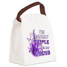 Im Rockin Purple for my Friend Canvas Lunch Bag