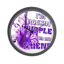 Im Rockin Purple for my Friend Wall Clock