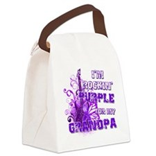 Im Rockin Purple for my Grandpa Canvas Lunch Bag