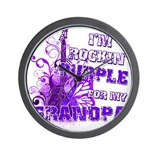 Im Rockin Purple for my Grandpa Wall Clock