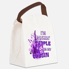 Im Rockin Purple for my Cousin Canvas Lunch Bag