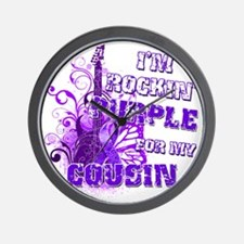 Im Rockin Purple for my Cousin Wall Clock