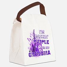 Im Rockin Purple for my Grandma Canvas Lunch Bag