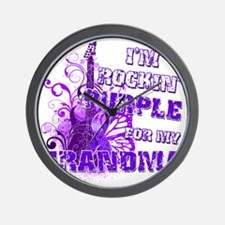 Im Rockin Purple for my Grandma Wall Clock