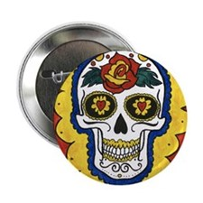 "Love Sugar Skull 2.25"" Button"