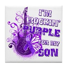 Im Rockin Purple for my Son Tile Coaster