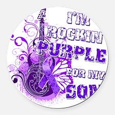Im Rockin Purple for my Son Round Car Magnet