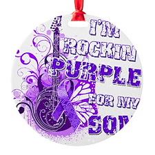 Im Rockin Purple for my Son Ornament