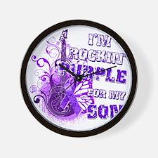 Im Rockin Purple for my Son Wall Clock
