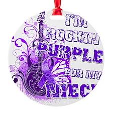 Im Rockin Purple for my Niece Ornament