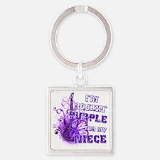 Im Rockin Purple for my Niece Square Keychain