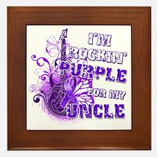 Im Rockin Purple for my Uncle Framed Tile