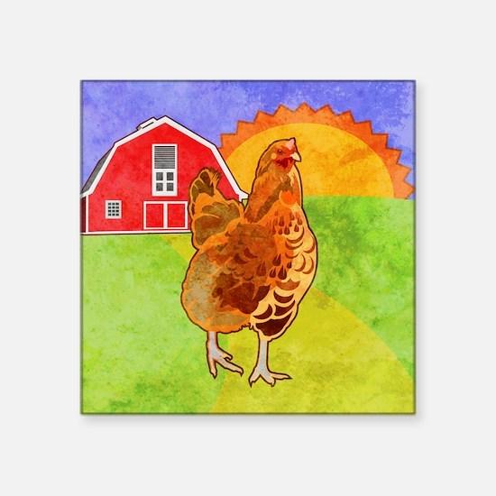 "duvetKingRooster Square Sticker 3"" x 3"""