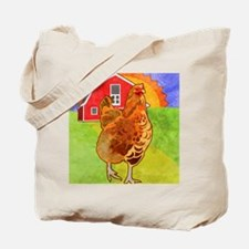 duvetTwinRooster Tote Bag
