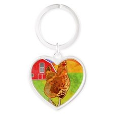 puzzleRooster Heart Keychain