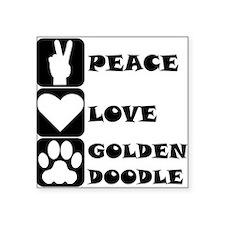 Peace Love Goldendoodle Sticker