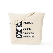 Peace Love Goldendoodle Tote Bag