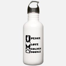 Peace Love Goldendoodle Water Bottle
