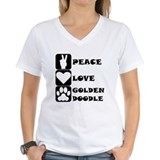 Black goldendoodle Womens V-Neck T-shirts