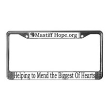 Mastiff Hope License Plate Frame