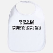 CONNECTED is my lucky charm Bib