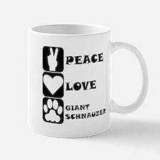 Peace Love Giant Schnauzer Mugs