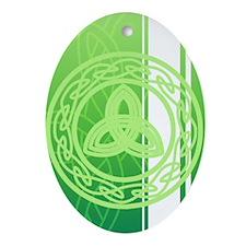 ipod4celticknot Oval Ornament
