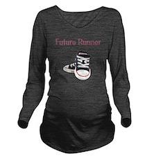 Future_Runner_boy Long Sleeve Maternity T-Shirt