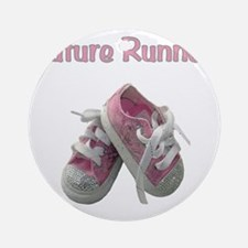 Future_runner_girl Round Ornament