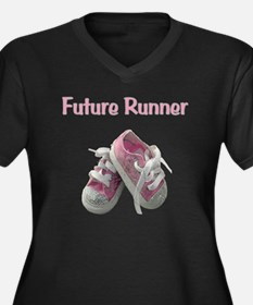 Future_runne Women's Plus Size Dark V-Neck T-Shirt