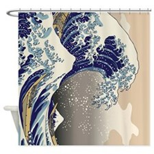 Hokusai_Great_WaveTwin Shower Curtain