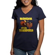 Mashugana For Thanksgivukkah Turkey and Menorah T-