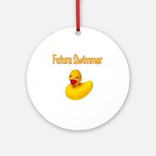 Future_Swimmer Round Ornament