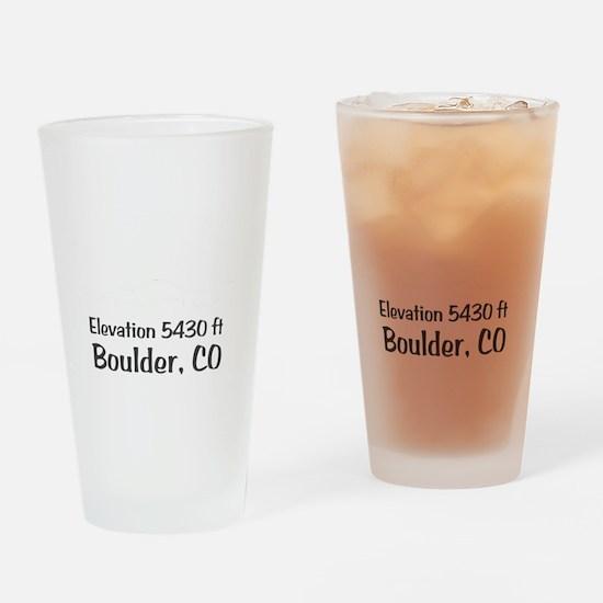 Boulder_High_Town_wht Drinking Glass