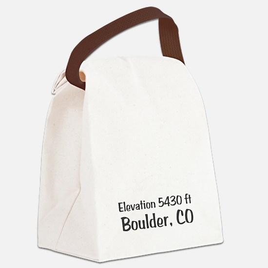 Boulder_High_Town_wht Canvas Lunch Bag