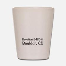 Boulder_High_Town_wht Shot Glass