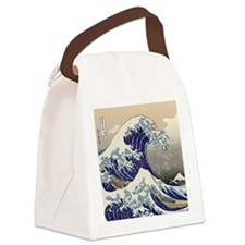 Hokusai_Great_WaveQueen1 Canvas Lunch Bag